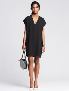 Crepe Cocoon Dress Product Image