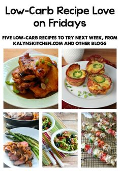 Low-Carb Recipe Love on Fridays (6-3-16) from KalynsKitchen.com; check back every Friday to see give featured low-carb and gluten-free recipes that you might want to put on your menu for the coming week!