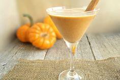 Death by pumpkin cocktail 2 oz. Rum 1 oz. Pumpkin puree (not pumpkin pie filling) 1/2 oz. Chocolate liqueur 1/2 oz. Pumpkin spice liqueur (optional) 1/2 oz. Simple syrup 2 oz. Pumpkin ice cream Dash of cinnamon