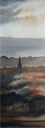 Masham Misty Day -Ian Scott Massie Prints - The Gallery, Masham enquiry@mashamgallery.co.uk