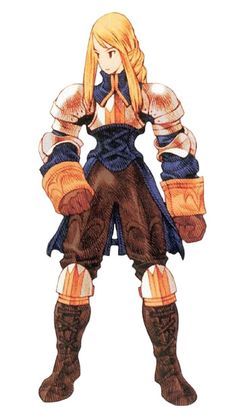 Week 16 - Final Fantasy Tactics - Concept Art Sun - Agrias Oaks  She's one of the best heroines