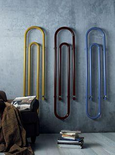 radiadores con forma de clip by con M de mujer, via Flickr