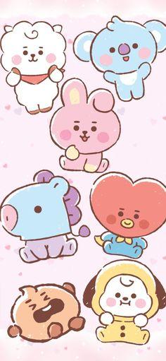 Iphone Wallpaper Kawaii, Cute Pastel Wallpaper, Pop Art Wallpaper, Disney Wallpaper, Bts Wallpaper, Art Drawings For Kids, Bts Drawings, Bts Poster, Jungkook Fanart