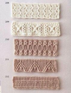 Узоры для оформления края изделия. Вязание спицами.