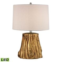 Solihul Tree Trunk LED Table Lamp in Antique Gold D2494-LED