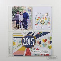 Project Life 2015: Title Page by Stephanie Kraft #PocketsandPages, #NewYear, #PocketScrapbooking, #Scrapbooking, #TE, #ShareJoy