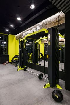 27 Home Gym Ideas to Get You Pumped (With Pictures) Basement Gym Equipment Gym Room At Home, Home Gym Decor, Basement Gym, Garage Gym, Small Garage, Home Gym Design, House Design, Trx, Home Gym Mirrors