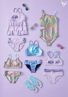 Sunscreen Cap Baby Toddler Girls Two Piece Swimsuits Rash Guard Sets Sun Protection UPF50 Pink Cherry Swimwear