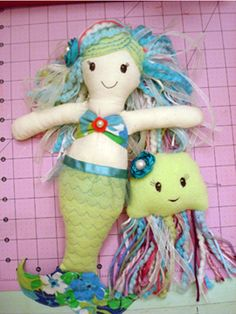 Mermaid Doll Tutorial Sewing Pattern by OneStarAway on Etsy