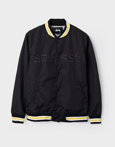 Stussy Logo stadium jacket - Shop Stussy at OnTheBlock