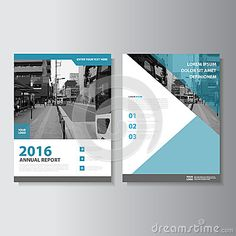 Blue Vector Magazine annual report Leaflet Brochure Flyer template design, book cover layout design