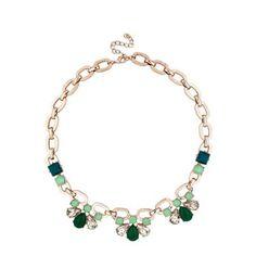 Principles by Ben de Lisi Designer green crystal teardrop necklace | Debenhams