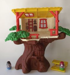 70s toys | 1970s Original Weeble Wobble Clubhouse Tree House by planetalissa