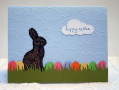 Stampin' Up! Chocolate Bunny handmade Easter card