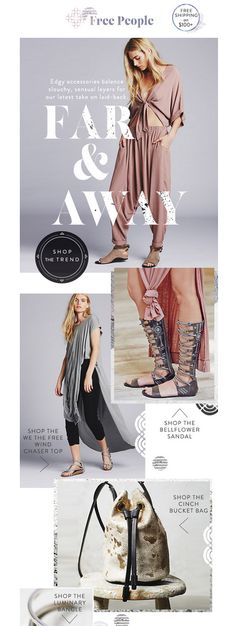 Fashion editorial layout free people 66 ideas for 2019 Email Marketing Design, E-mail Marketing, Trendy Fashion, Fashion Models, Fall Fashion, Email Newsletter Design, Email Newsletters, Email Design Inspiration, Style Inspiration