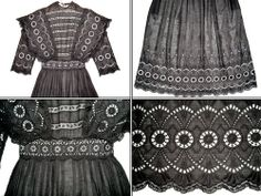 Victorian Young Girls Clothes | All The Pretty Dresses: Edwardian/Teens Summer Mourning(?) Tea Dress Victorian Life, Bathing Costumes, Teen Summer, Vintage Children, Pretty Dresses, American Girl, Girl Outfits, Girls Dresses, Doll