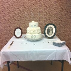 60th wedding anniverary cake | 60th wedding anniversary cake I made for my grandparents | Ideas