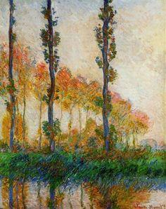 The Three Trees, Autumn by Claude Monet (via @lonequixote)