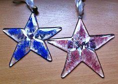 fused glass personalised stars
