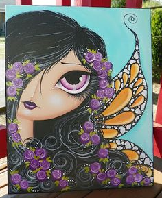 Make Art & Live Happy....painting by Megan K. Suarez