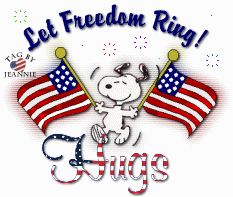of July ~ Snoopy ~ Let Freedom Ring