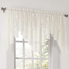 Alison Lace Curtain Valance