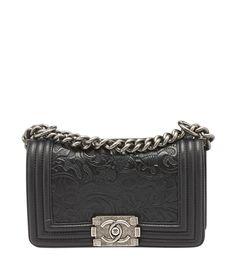 Chanel Ley Boy Cordoba Black Leather Shoulder Bag