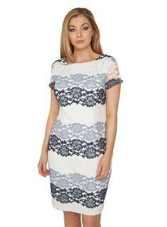 e0239a18cf0ed Roman Originals Grey Tonal Lace Dress