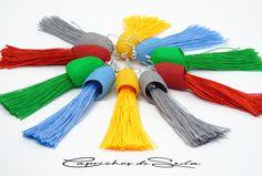 Tassel Necklace, Tassels, Jewelry, Fashion, Dyed Silk, Bangs, Earrings, Colors, Moda