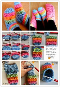 Here's the link to the tutorial >> DIY Toddler Crochet Slippers These starlight toddler slippers are button cute. I am excited to feature this free crochet pattern and detailed tutorial from my hobby is crochet for my Crochet Baby Socks, Crochet Toddler, Crochet Slippers, Baby Knitting, Crochet Round, Free Crochet, Knit Crochet, Crochet Hats, Crochet Slipper Pattern