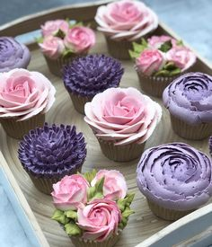 Fairy Cupcakes, Fun Cupcakes, Cupcake Cookies, Unique Desserts, Cute Desserts, Chocolate Desserts, Cupcake Flower Bouquets, Floral Cupcakes, Frosting Flowers