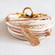GOLDEN FEATHER- bracelet by Issi Gold Rings, Rose Gold, Belt, Cream, Bracelets, Jewelry, Belts, Creme Caramel, Jewlery