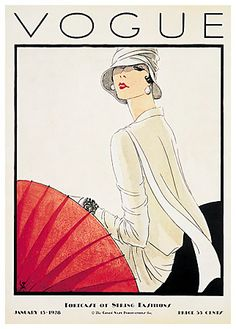 Art Deco Cover of @Vogue. #Art #fashion