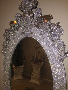 Items similar to Reserved Custom mirror for kim on Etsy Diamond Theme, Diamond Wall, Baroque Furniture, Cool Furniture, Painted Furniture, Baroque Mirror, Mirror Mirror, Diy Home Decor, Room Decor
