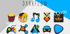 DarkFlow - Icon Pack v1.1 APK   DarkFlow is Unique Set of Icons with a Dark-Accent Palette. This is what Dark Material Design would have been. Though it doesn't follow all the Material Guidelines it gives a perfect Material look. Each icon is crafted uniquely and originally. Features: 800 Icons. 20 HD Cloud Based Wallpapers. Compatible with most of the major launchers. Stock Icons for Asus Cyanogenmod HTC LG Samsung Sony Xperia and Moto. Muzei Support.  DarkFlow is in its early stage so…