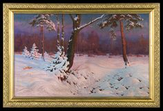 Jan Grubinski (1874-1945), Hiver en Forêt.