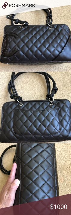 cad5dd617b CHANEL Cambon Bowler Bag in Dark Brown CHANEL Cambon Quilted Leather Bowler  Bag in dark brown