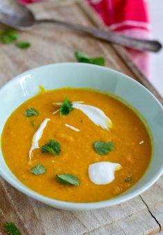 Thaise wortel-pompoensoep