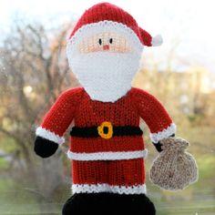 Advent calendar - door twenty - 20th December. Knitted Santa.