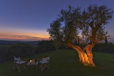 One of the many evening views you can enjoy when staying at our villa in Maremma.