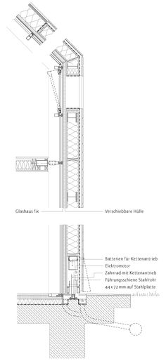 sliding house in suffolk detail - Szukaj w Google Sustainable Architecture, School Architecture, Sustainable Design, Architecture Details, Roof Detail, Passive House, Building Systems, Brick Cladding, Detailed Drawings