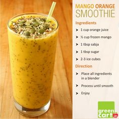 Mango Orange Smoothie!!