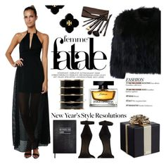 """""""All black and fur"""" by mcheartsu ❤ liked on Polyvore featuring Lovers + Friends, Isabel Marant, Kate Spade, H Brand, Tory Burch, Balmain, Borghese, Dolce&Gabbana, Sloane Stationery and styleresolution"""
