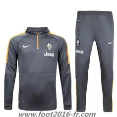 Equipement Nouveau Survetement clubs de foot Juventus Gris 2015 2016 pas cher