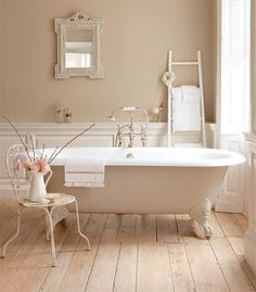 Fake it till you make it ;) I can't have floor boards in my bathroom so I'm thinking of wooden look floor tiles