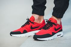 "On-Foot: Nike Air Max 1 Ultra SE ""Action Red & Black"" - EU Kicks: Sneaker Magazine"