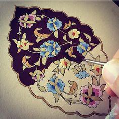 Musa Akkaya, Tezhib Islamic Art Pattern, Arabic Pattern, Pattern Art, Motif Arabesque, Illumination Art, Turkish Art, Stencil, Paper Artwork, Arabic Art