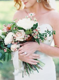 Burgundy, blush and cream bouquet: http://www.stylemepretty.com/tennessee-weddings/nashville/2015/08/28/charming-burgundy-and-cream-nashville-wedding/ | Photography: Cassidy Carson -http://www.cassidycarsonphotography.com/#cassidy-carson-photography