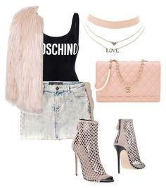 """""""🎊 day #26"""" by andyck on Polyvore featuring moda, Moschino, Hollister Co., Grey Mer, Sans Souci, Charlotte Russe e Chanel"""