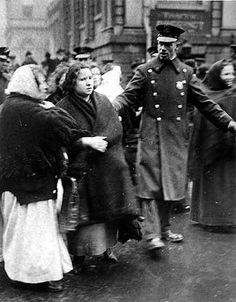 """On the morning of February 20, 1917, an army of some 400 angry mothers climbed the steps of New York City's City Hall. With babies hoisted on their hips, they moved with an urgency brought on by weeks of suffering. """"WE WANT FOOD FOR OUR CHILDREN!"""" they shouted out in English and Yiddish. Learn about the food riot that rocked NYC in 1917"""